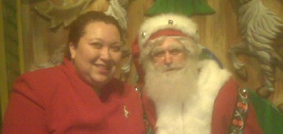 Alison with Macy's Santa 2008 Small